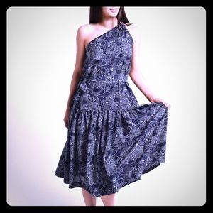 NWT Roller Rabbit Dihn Diti Indigo Long Dress szM